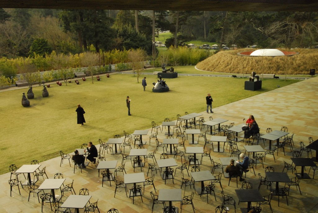 DY-view of sculpture garden from the building